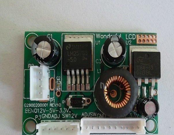 DC-DC power panel power board 12v-5v-3.3v 10pcs/lot
