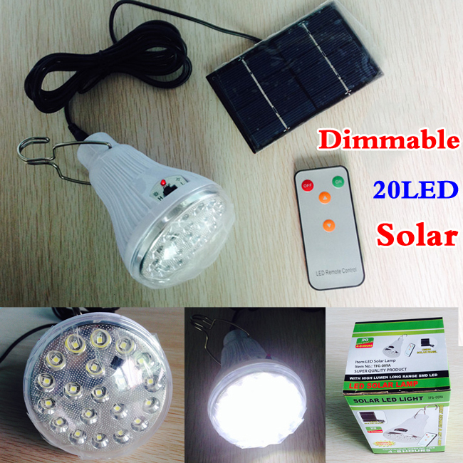 Indoor Dimmable 20 Led remote control solar light led light outdoor solar lamp garden decoration solar lights+solar lamp(China (Mainland))