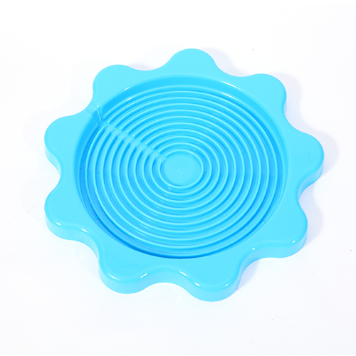 SMILE MARKET Top 10 Selling Good Reputation Beautiful Blue Flower Shaped Insulation Cup Pads(China (Mainland))