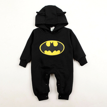 Baby Girl Rompers Batman Toddler Hoodies Newborn Baby Boy Clothes Winter Romper Warm Clothing Set Jumpsuit Long Sleeve With Hats