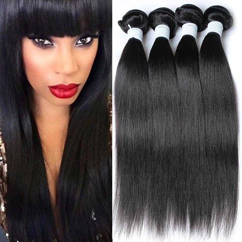 unprocessed virgin peruvian hair silky straight remi weave straight hair extensions 4 bundles peruvian virgin hair straight(China (Mainland))