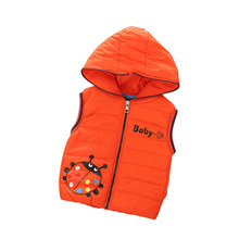 2016 New Boy Vest Children Outerwear Kids Coat Warm Baby Coats Girl Casual Character Pure Color Vests For Girls Boys Clothes 8
