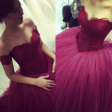 2016 Red Ball Gown Quinceanera Dresses Organza Tulle Beaded Vestidos De 15 Anos Cheap Gowns Q6 - DK Bridal Store store