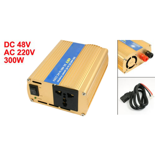 Alloy Casing 300W Car Power Inverter Wire DC 48V to AC 220V Fast Shipping(China (Mainland))