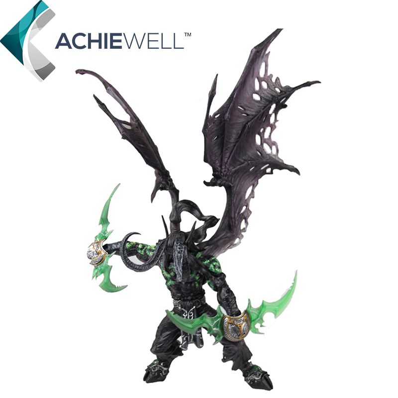 Wow DC5 Demon Hunter illidan Stormrage 33cm PVC Action Figure Cool Model Game Player Collection Plastic Toys For Adult Gift Doll(China (Mainland))