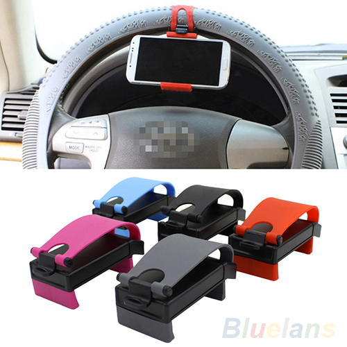Universal Car Steering Wheel Bike Clip Mount Holder For iphone Phone Samsung GPS 2MA7 2V34(China (Mainland))