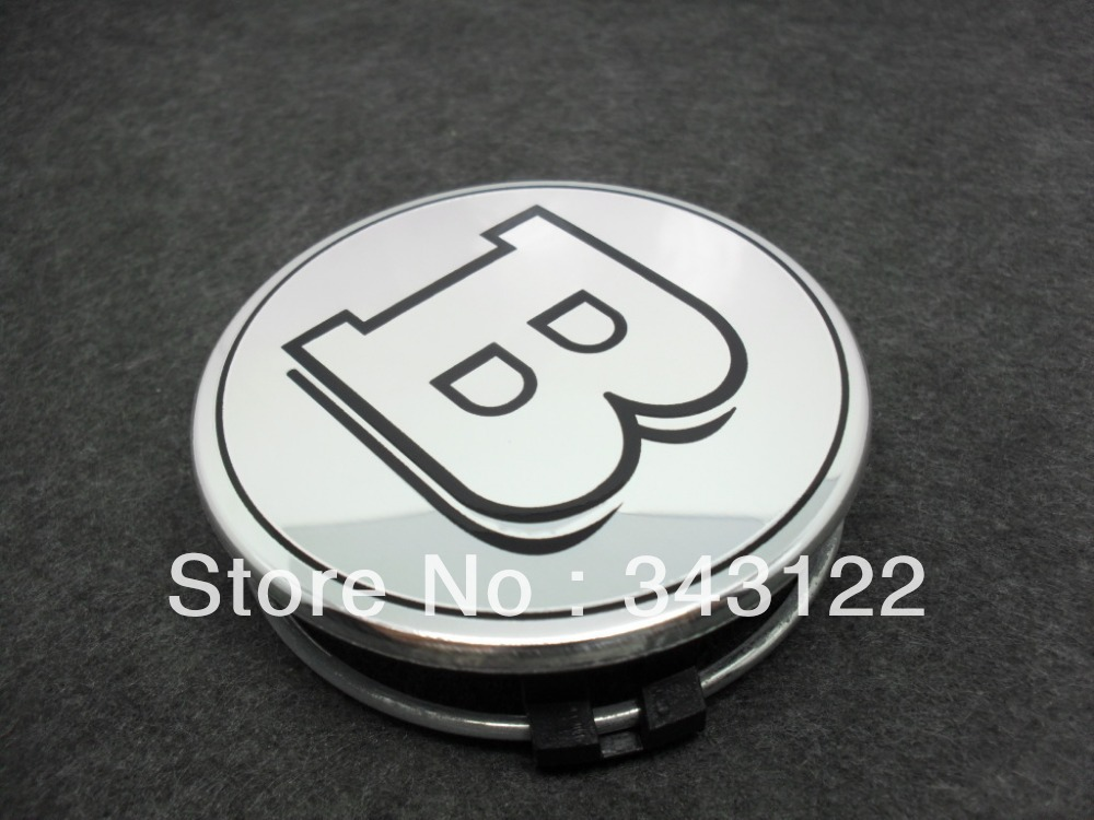 Silver b logo wheel center caps emblem for mercedes benz for Mercedes benz wheel cap emblem