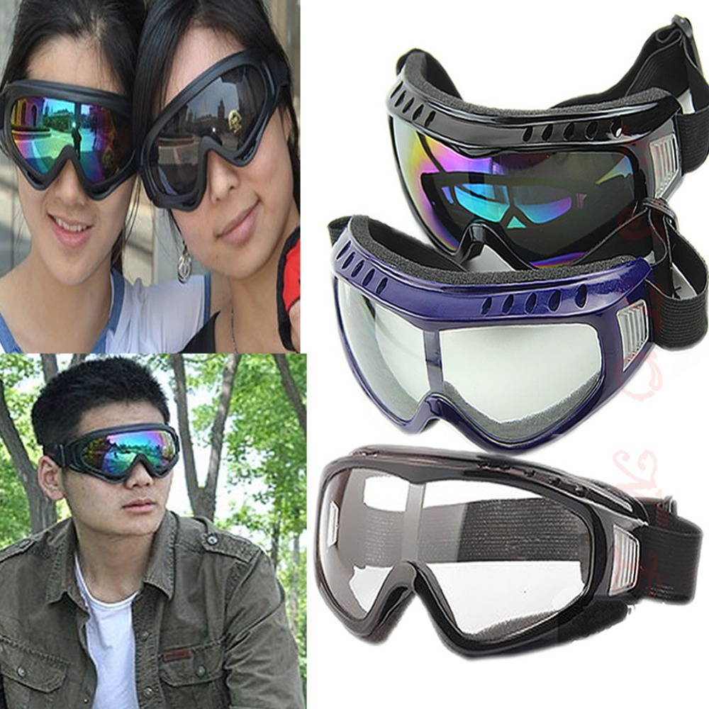 Free Shipping Protection Airsoft Goggles Tactical Paintball Clear Glasses Wind Dust Motorcycle(China (Mainland))