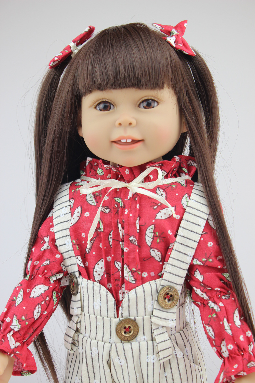 18 inch vinyl american girl dolls for sale Brown Long hair ...