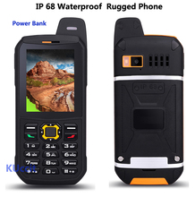 Original Waterproof phone Mobile CDMA Power Bank GSM Senior old man IP68 Rugged shockproof cell phone three sim sonim polski(China (Mainland))