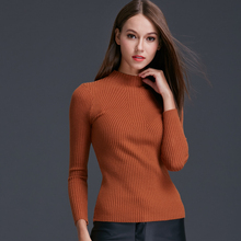 JiaoYan Women's Knitted Sweater Round Neck Slim Pullovers Warm Winter Garment Female Blouse Mix Color lady Tops JY1548(China (Mainland))