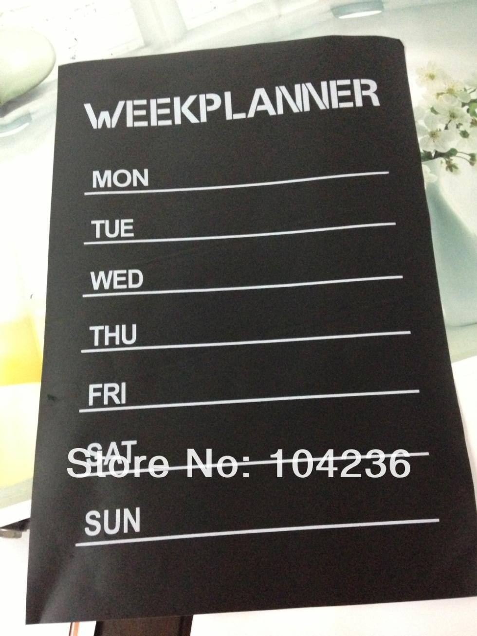 week planner chalkboard stickers office living room home decorations zooyoo201 diy nursery note labels wall decals mural art(China (Mainland))