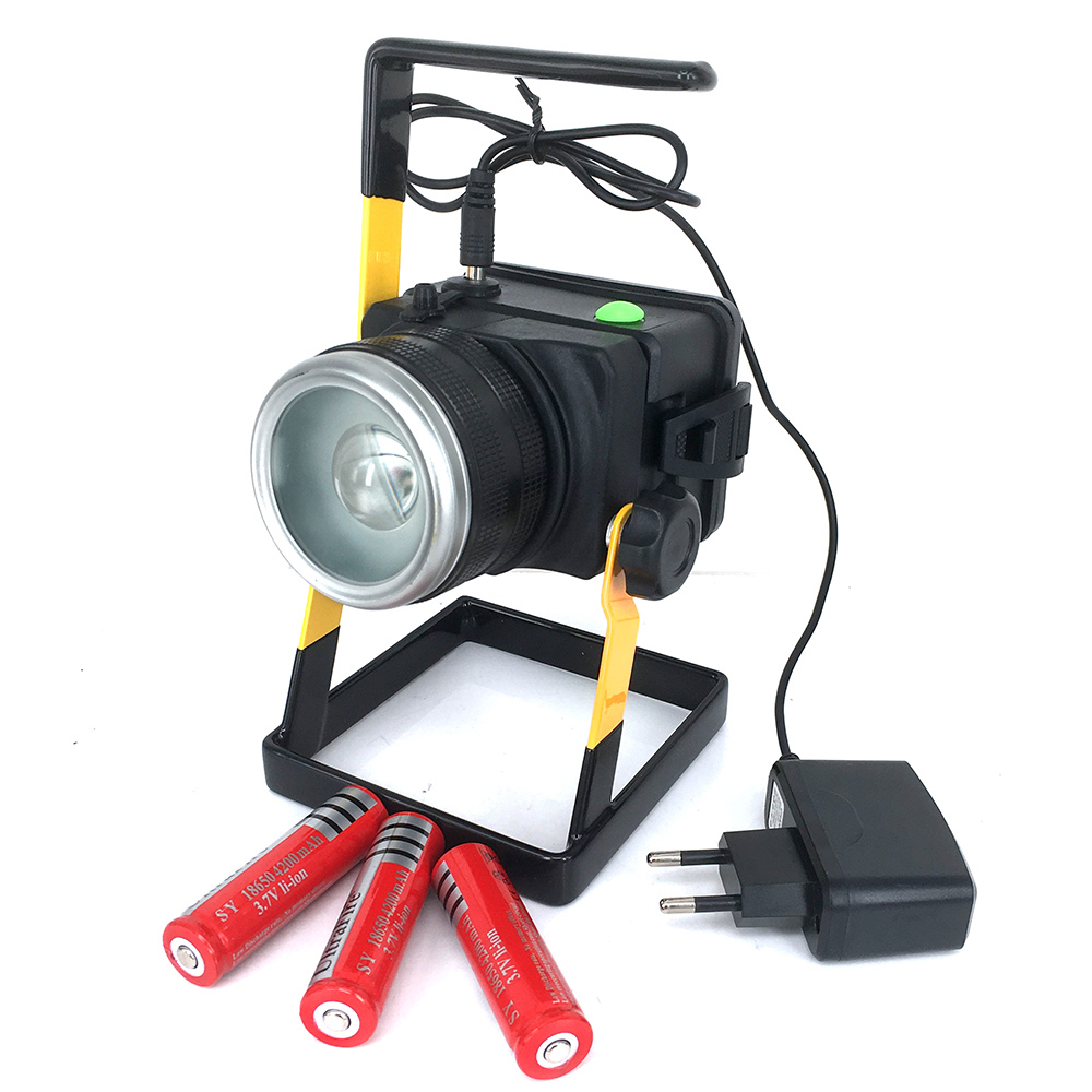 XML T6 15W Portable Rechargeable LED Floodlights Flood Light 18650 Spot Work Light Power Bank Function with Battery & Charger(China (Mainland))