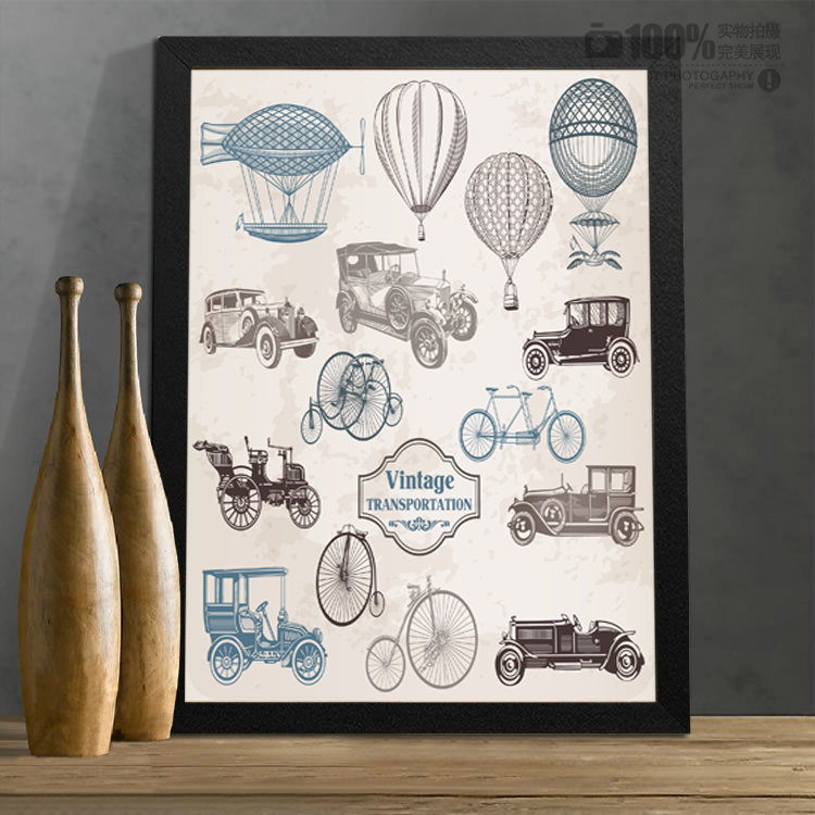 Recommended retro tool bar poster personalized decorative painting children's bedroom(China (Mainland))