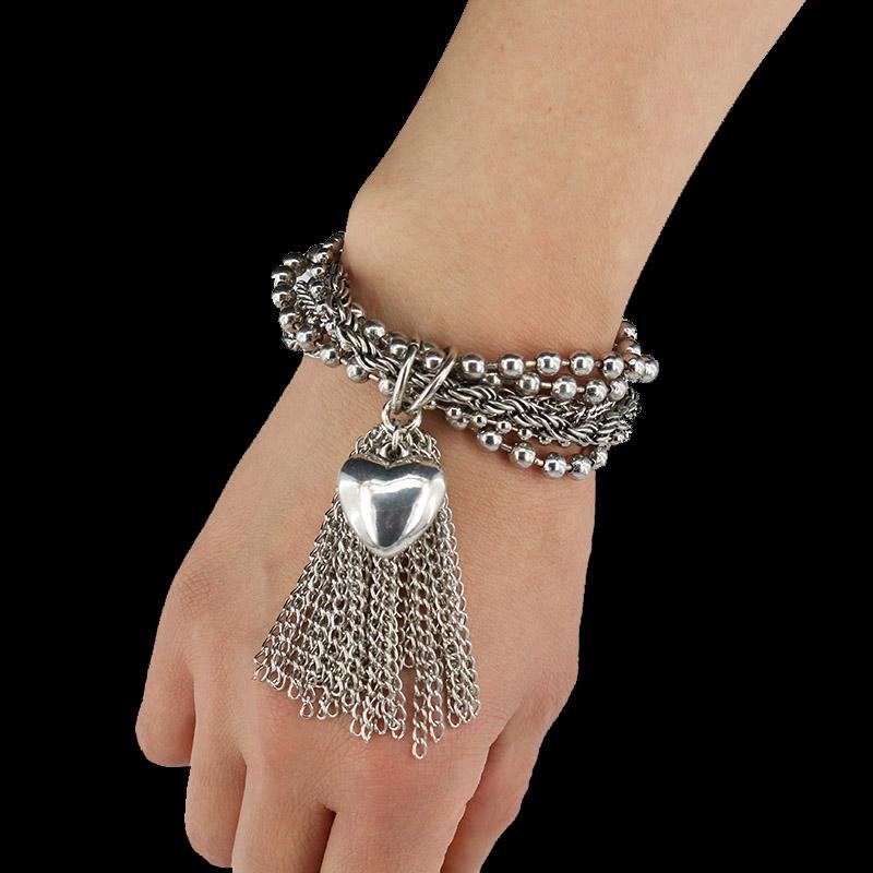 2016 New hot selling silver plated Austrian brand Multi Women bracciali uomo chain bracelet wedding jewelry Bracelet For girl(China (Mainland))