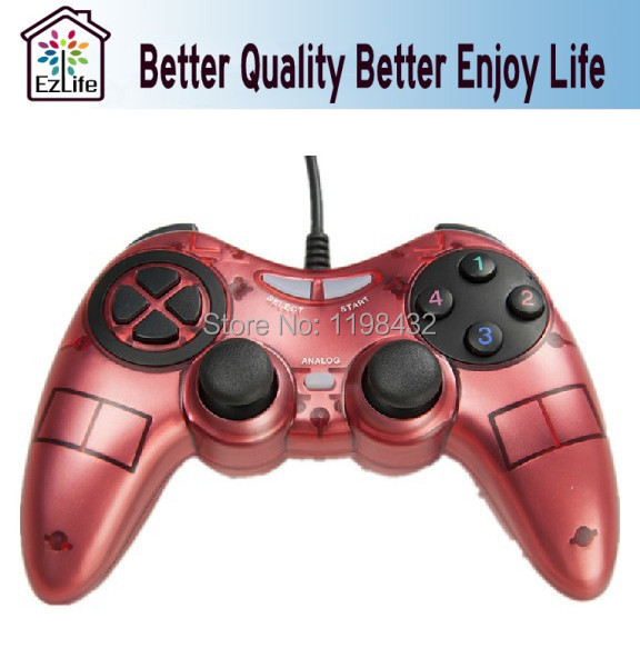 New Hot USB Gamepad Gaming Wired Shock Controller Joypad Gamepad Joystick For PS3 TV USB Game Controller Cheapest Free shipping(China (Mainland))
