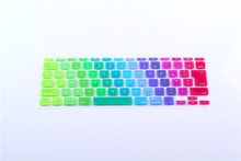 Japanese JP keyboard Rainbow English Letter Keyboard Cover Skin Protector For Apple MacBook Air 11″ 11.6 For Mac book 11″ JP