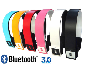 Free Shipping , Wireless Bluetooth stereo headset headphone with mic for cellphone ,PC ,MP3 MP4, Bluetooth headset speaker