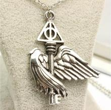 Buy European American movie peripheral accessories Harry potter deathly hallows flying wing key necklace for $1.04 in AliExpress store