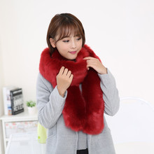 2016 Luxury brand scarf Designer winter Warm Noble Women Scarf Artificial Fox Fur Scarves Fashion Collar blanket Shawl Wraps(China (Mainland))