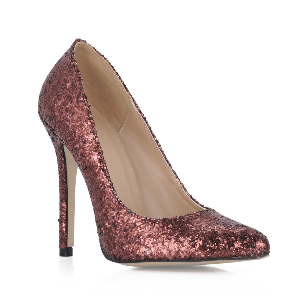 bling bling Sexy Stiletto High-Heeled Shoes Woman Party Wedding Shoes Sequined Women Shoes 2016 Pointed Toe Womens High Heels(China (Mainland))