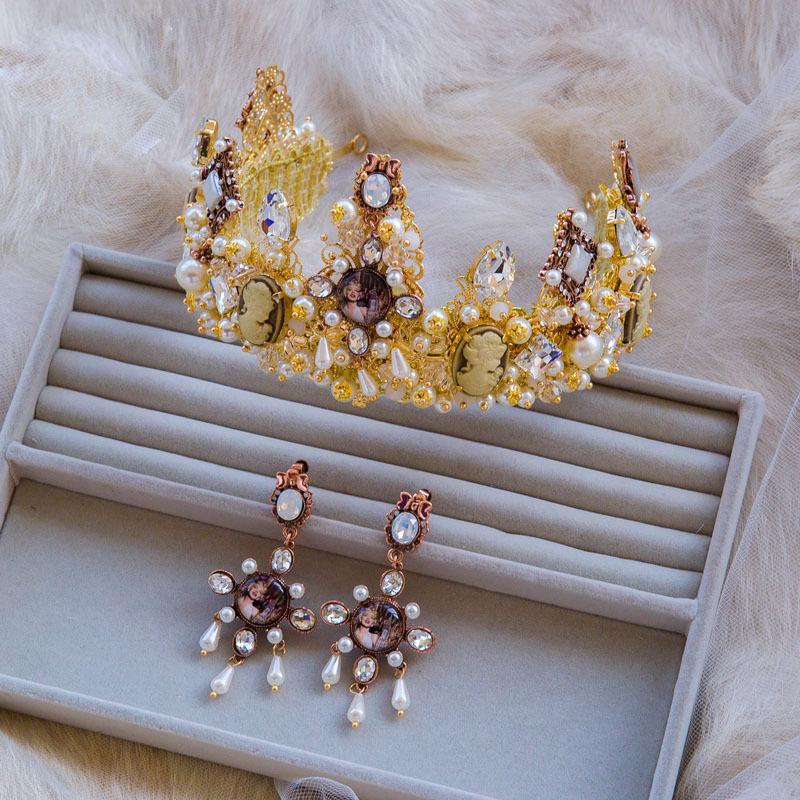 Handmade European Baroque Style Queen Tiara Party Dress Accessories Bridal Hari Accessories(China (Mainland))