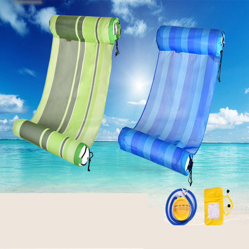 swimming bed Inflatable float bed New arrival water inflatable toys adult hammock floating row chaise lounge water bed<br><br>Aliexpress