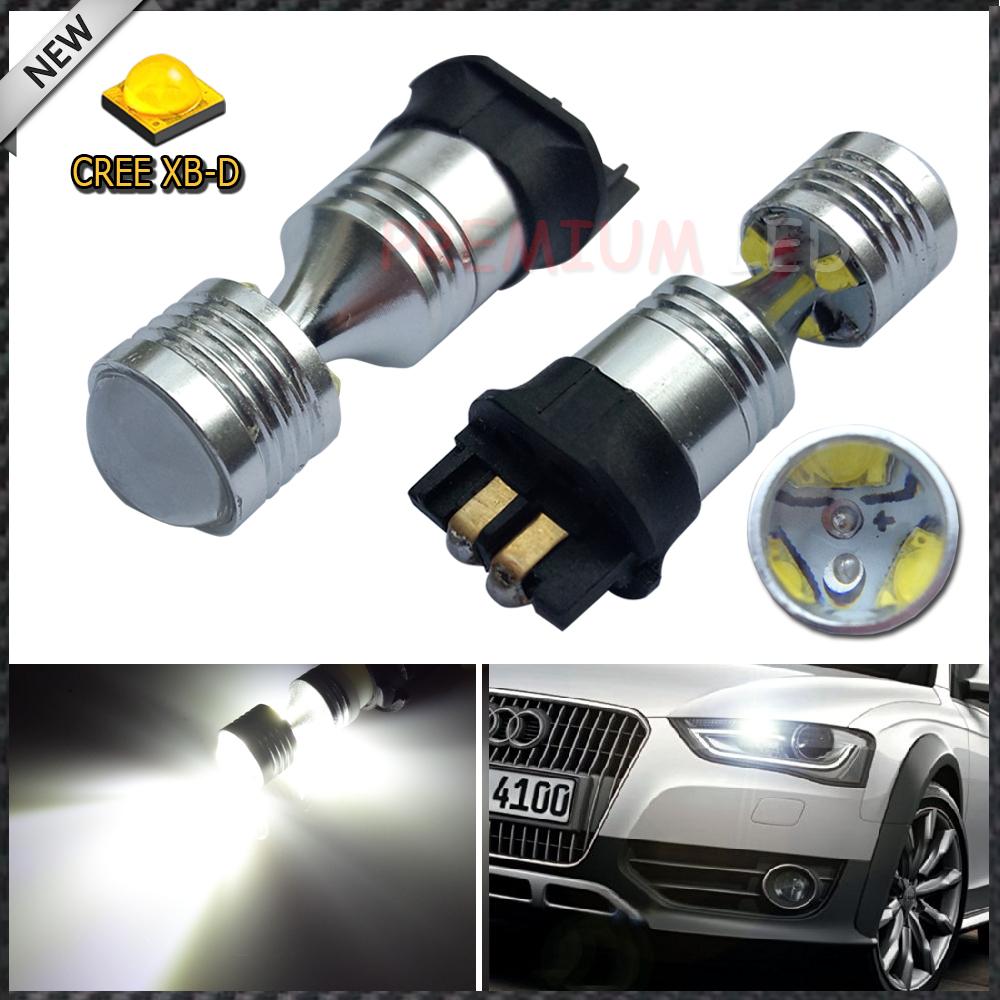 (2) Error Free PWY24W PW24W CREE LED Bulbs For A3 A4 A5 Q3 VW MK7 Golf CC Ford Fusion Front Turn Signal Lights, F30 3 Series DRL(China (Mainland))