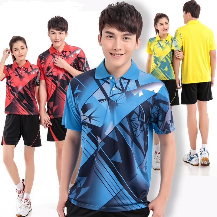 hot ! Badminton Shirts,Table tennis Jersey clothing polyester breathable,quick-drying table tennis shorts M-4XL free shipping(China (Mainland))
