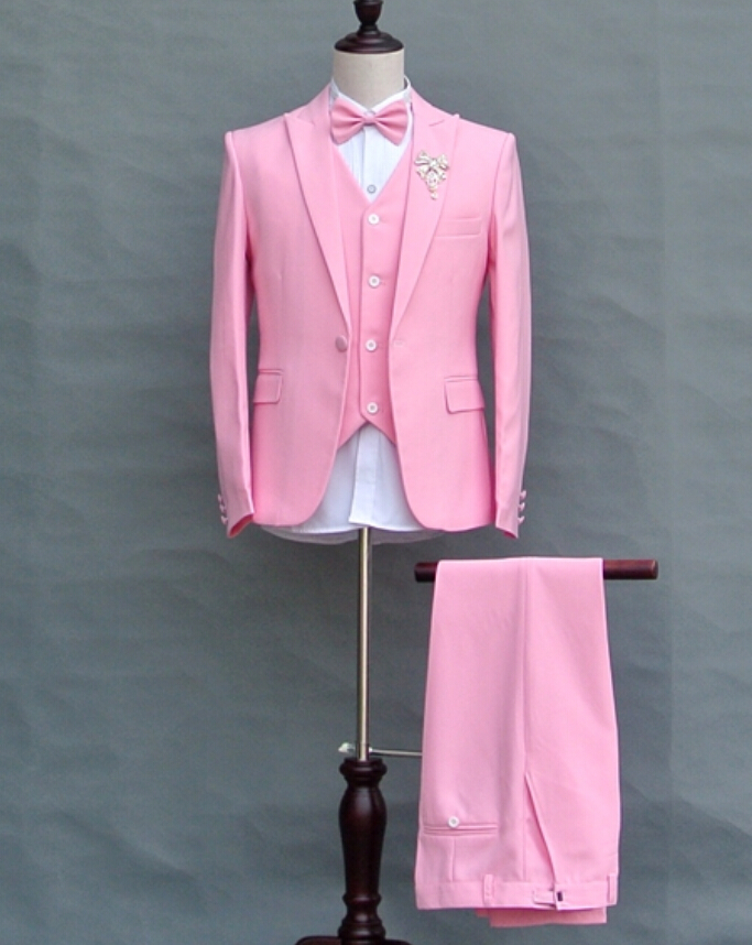 Fashion slim mens  Pink suits male groom married wedding dresses singer dance stage wear blazer nightclub party clothing setОдежда и ак�е��уары<br><br><br>Aliexpress