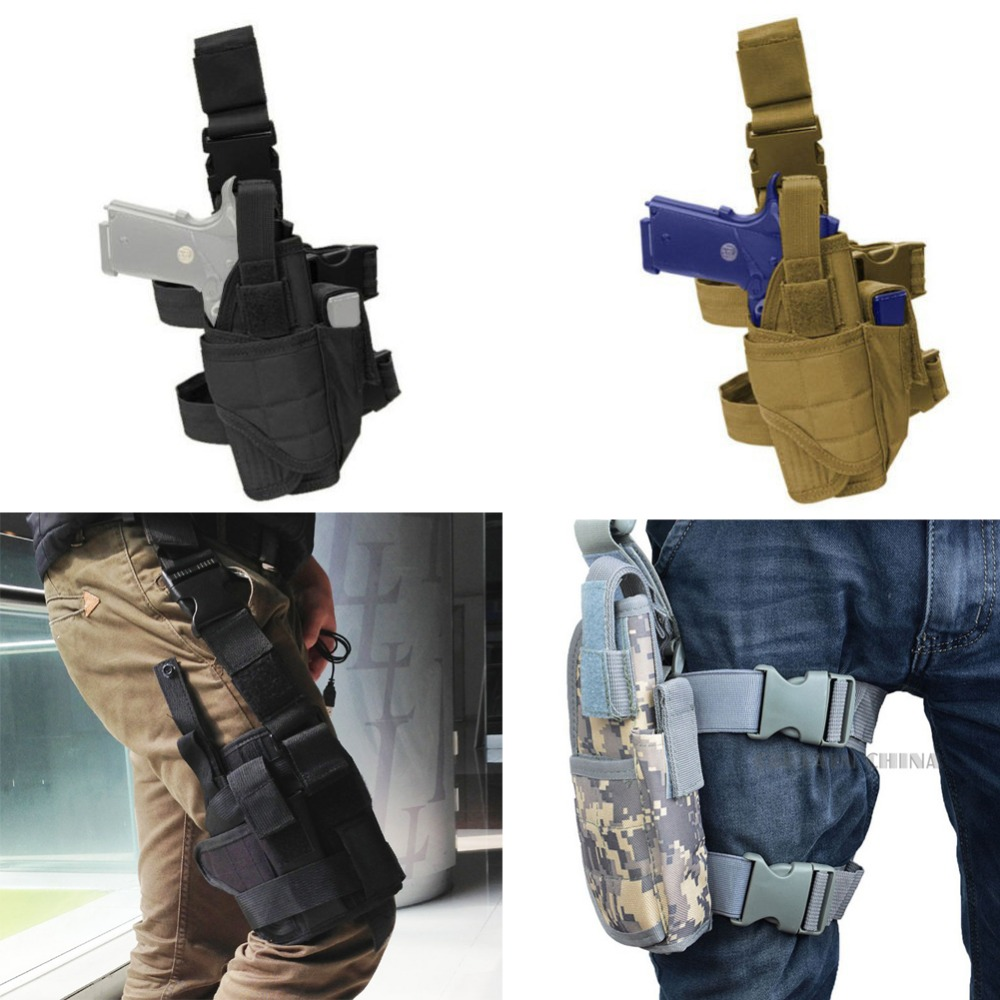 Adjustable Tactical Army Pistol/Gun Drop Leg Thigh Holster Pouch Holder Quick Release RL31-0009(China (Mainland))