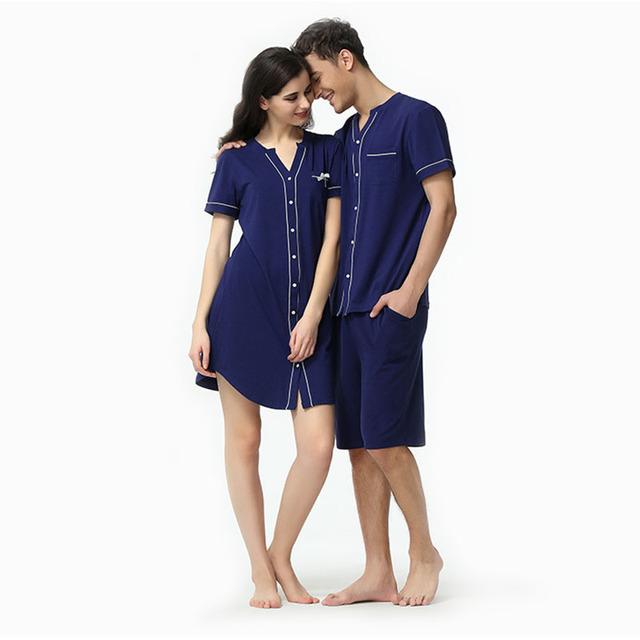 2016 лето коротким рукавом и шорты pijamas модальные пара v шеи cyran синий новинка ...