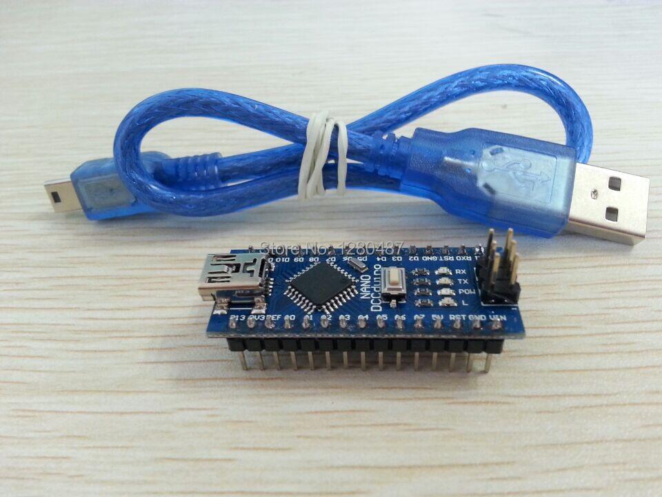 Free Shipping 10PCS/LOT For arduino Nano 3.0 Atmel ATmega328 Mini-USB Board+ 1pcs USB Cable brand new(China (Mainland))