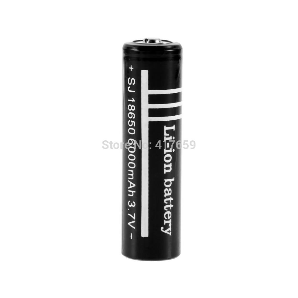 Free shipping 18650 2pc lot 6000mAh Ultrafire 18650 Battery 3 7V Rechargeable Li ion Battery Camera