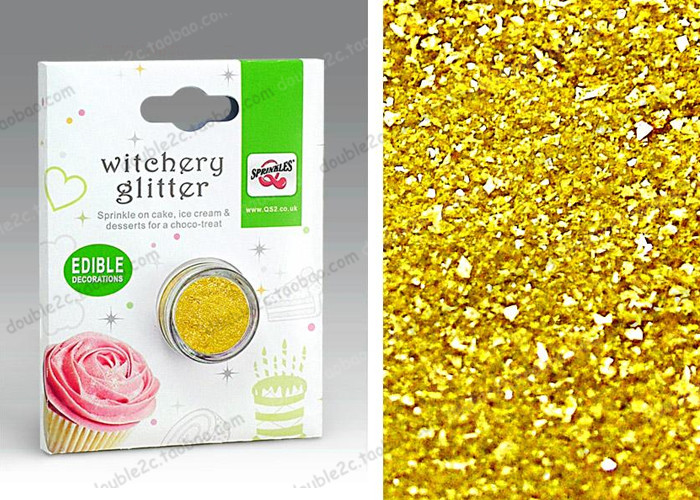 Golden Edible Sprinkles for Cake Decoration,2g Edible Cake Glitter,DIY Fondant Cake Edible Food Color Decoration for Cake Tools(China (Mainland))