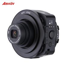 AMKOV JQ-1 Mini Selfie Lens-style Digital Camera Video Camcorder Wifi 20MP 5X Optical Zoom Full HD 1080P 30fps PC Camera(China (Mainland))