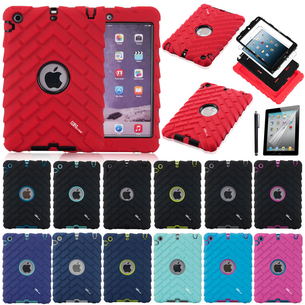 Kids Shockproof Anti-Slip Rubber Protective Case Cover For IPad Mini 1/2/3(China (Mainland))
