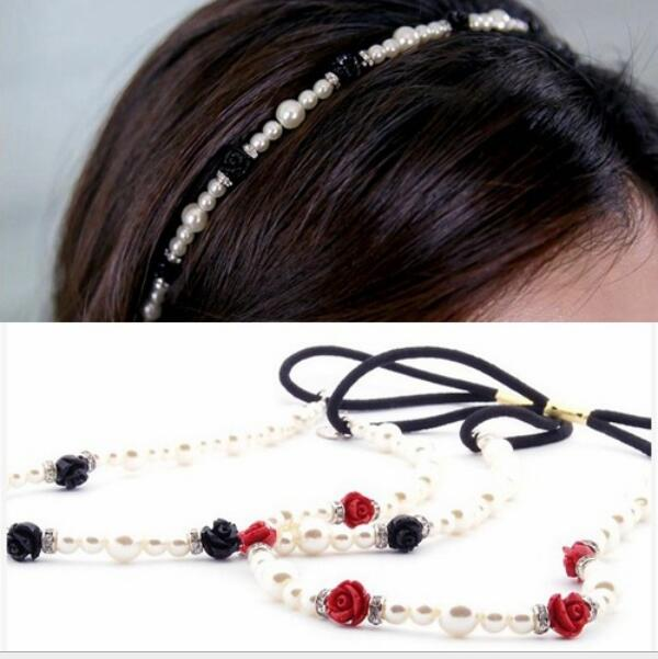2016 Newest women's pearl flower hairbands headbands for girls ladies hair accessories 1pcs/lot free shipping(China (Mainland))