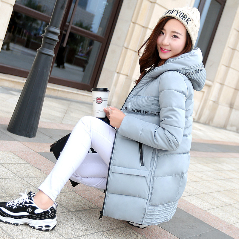 2015 Winter New Korean Hooded Jacket With Lace And Long Sections Ladies Warm Cotton W0344Одежда и ак�е��уары<br><br><br>Aliexpress