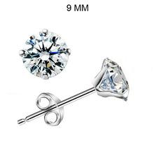 Men's Cone-Shaped Platinum Plated & 4 Prongs 9MM 3.0 CT Round Brilliant Cut Grade AAA CZ Diamond Stud Earring (0579)(China (Mainland))