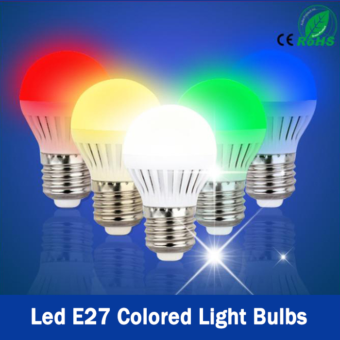 rgb led colored light bulbs led super bright pink bulb energy saving lamp bulb small decorative lights E27(China (Mainland))