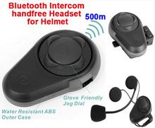 (1set) Newest BT Motorcycle Helmet Intercom Headset Walkie Talkie WaterProof Long Distance Capacetes Casco Bluetooth Headphone(China (Mainland))