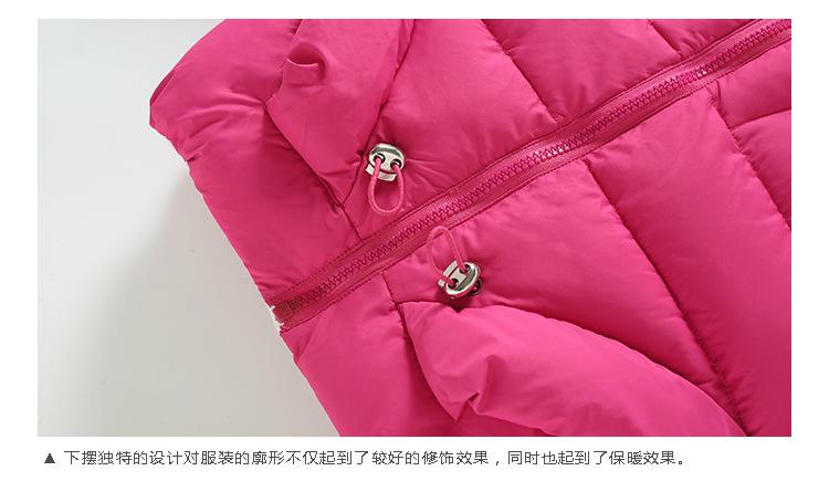 Скидки на 2016 новая зимняя детская одежда, детская девушки принцесса Верхняя Одежда пуховик с капюшоном теплое пальто куртка сладкий стиль бесплатная доставка