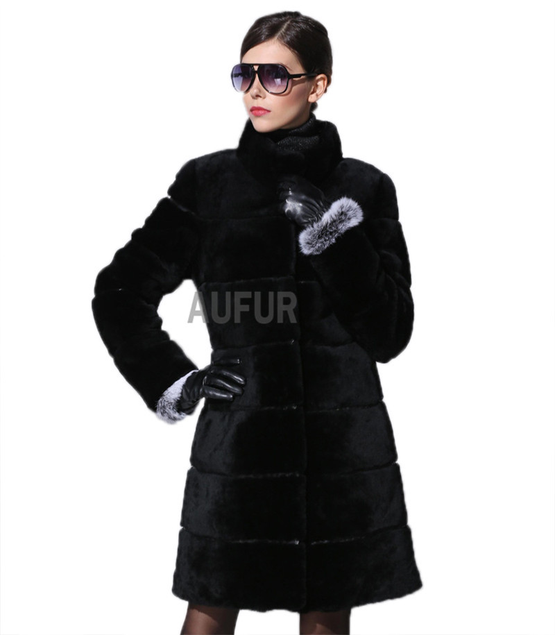 Elegant Women Real Lamb Fur Overcoat Soft Fashion Winter Outwear Warm Solid Color Full Sleeves One Button Decorated New AU00565Одежда и ак�е��уары<br><br><br>Aliexpress