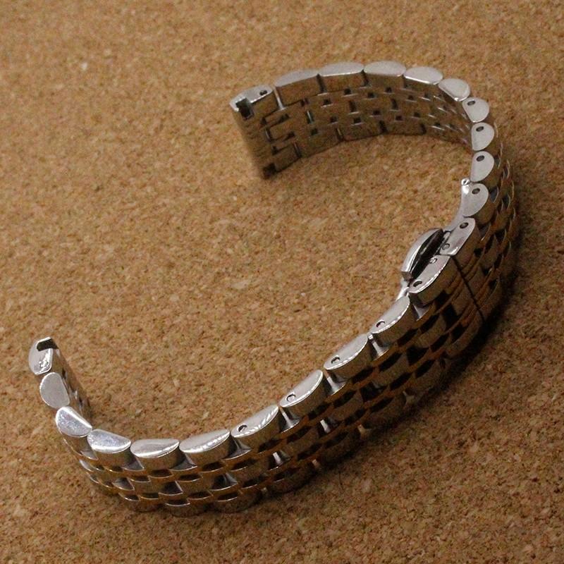 Нержавеющая сталь Ремешок Для Часов ремни Металлический Браслет 14 мм 16 мм 18 мм 20 мм серебро с золотой цвет модный бренд часы стильные часы