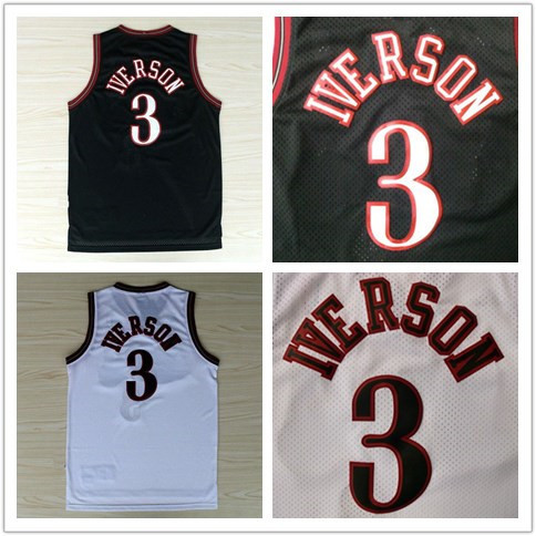 Retro Basketball Jerseys #3 Allen Iverson Jersey Ph