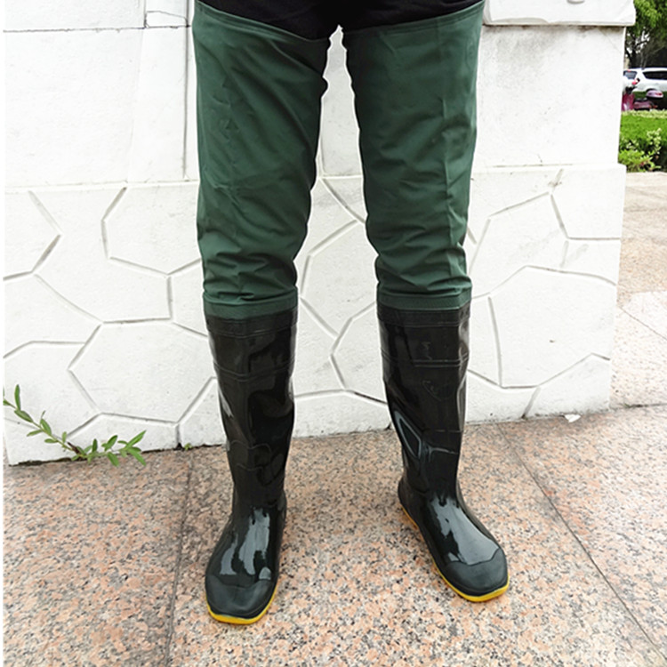 Fishing waders men and women boots shoes rubber water for Fishing waders with boots