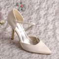 Beige Pointed Toe Wedding Pumps High Heeled Plain Upper Size 9