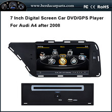 Car Radio For Audi A4 After 2008 With GPS A8 Chipset Dual Core 3 Zone POP BT Free Map
