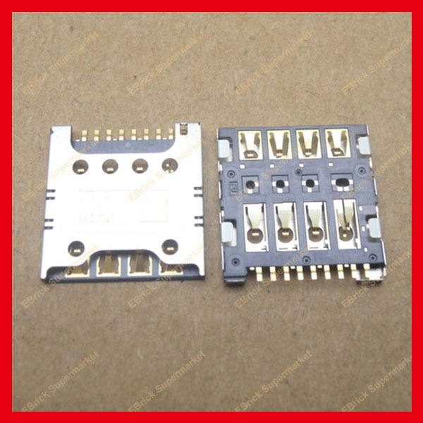 30pcs/lot Original New SIM Card Holder Tray Slot Connector Reader Card for Samsung I8262 LG F240L F240S F240K